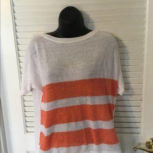 large sweater short sleeve lightweight orange